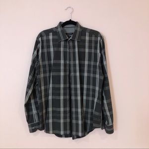 Bugatchi Shaped Fit Button Down Long Sleeve Shirt